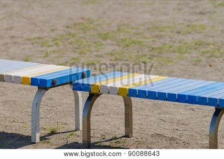 Bench On Field