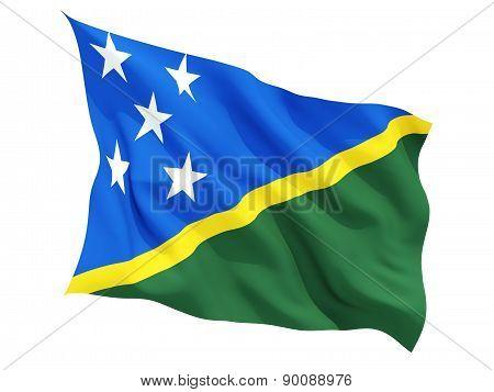 Waving Flag Of Solomon Islands