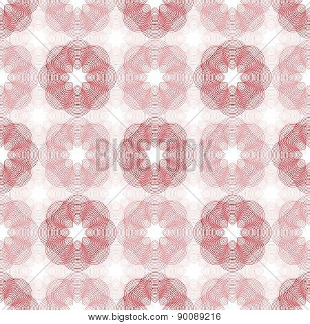 Guilloche Abstract Seamless Pattern