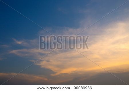 Sunset Sky Blue  Background Texture