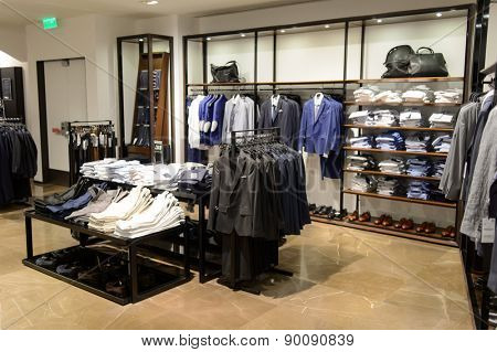 HONG KONG - MAY 05, 2015: Zara store interior. Zara is a Spanish clothing and accessories retailer based in Arteixo, Galicia, and founded in 1975 by Amancio Ortega and Rosal�?�?�?�a Mera