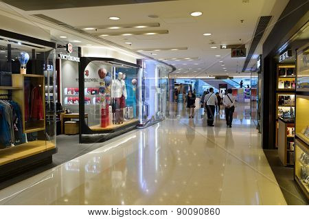HONG KONG - MAY 05, 2015: Hong Kong shopping mall interior. Hong Kong shopping malls are some of the biggest and most impressive in the world