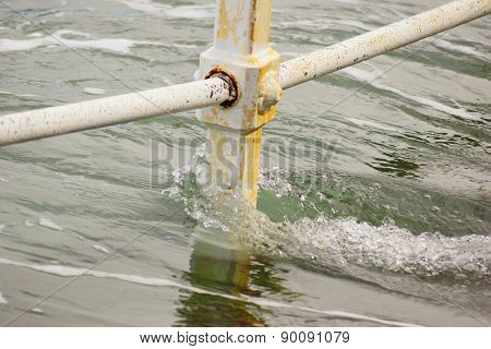 Railing and water 1