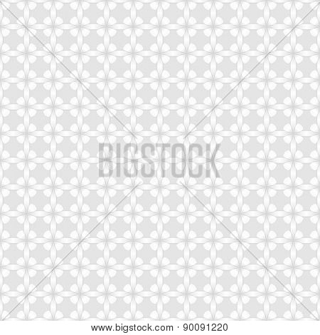 Abstract white wall with flower buds pattern vector background.