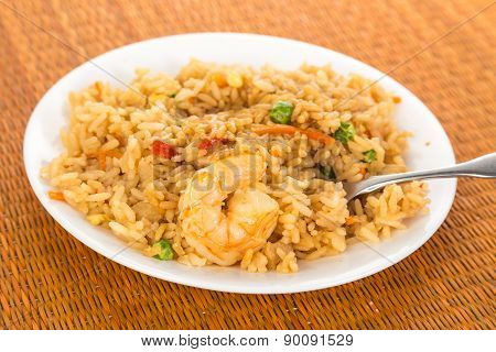 Eating Fried Rice With Fork
