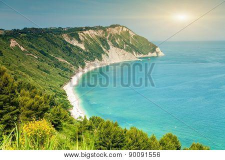 Italian Beach From A Viewpoint