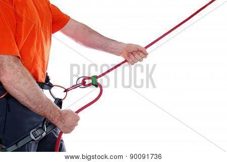 Climber Belay
