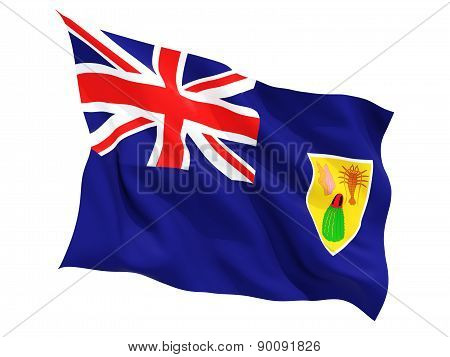 Waving Flag Of Turks And Caicos Islands
