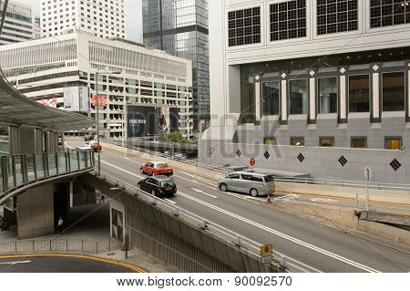 HONG KONG - MAY 05, 2015: Hong Kong downtown. Hong Kong is a semi-autonomous city state on the southern coast of China at the Pearl River Estuary and the South China Sea