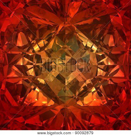 Red Background Of Jewelry Gemstone