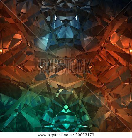 Multicolored Background Of Jewelry Gemstone
