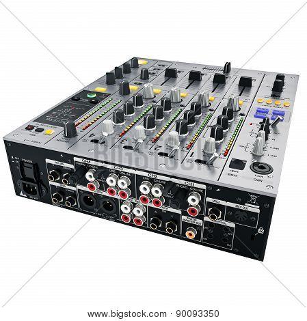 DJ Mixer back view