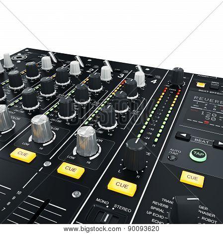 DJ Mixer illuminated
