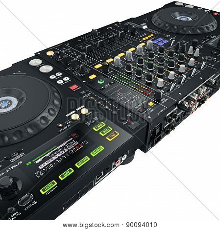 DJ set black