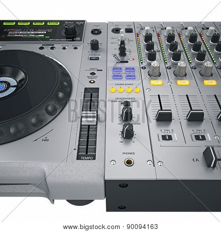 Dj set controls gray