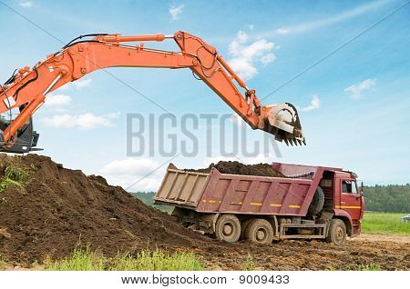 Excavator Loader And Dumper Truck