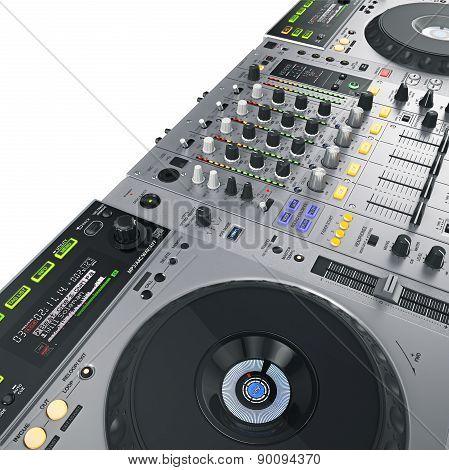 DJ set illuminated gray