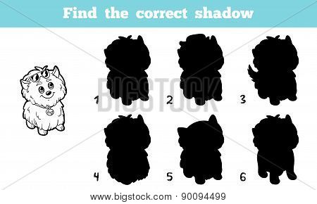 Find The Correct Shadow (dog)