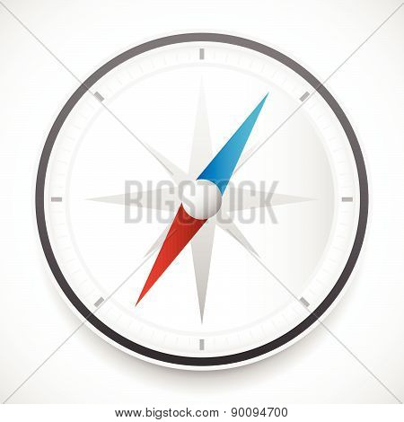 Dial Of Compass With Wind Rose Vector Icon. Easy To Edit.