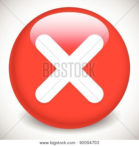 Red Cross, X Shape. Remove, Delete, Restriction Sign, Icon.