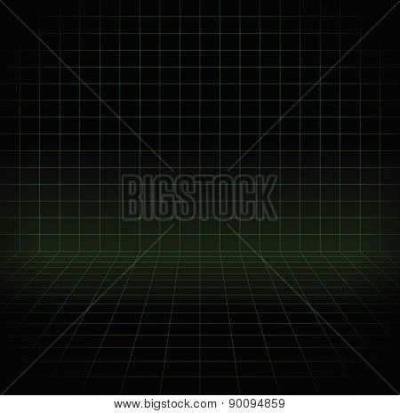 Blank Space With Perspective Grid, Wire Frame For