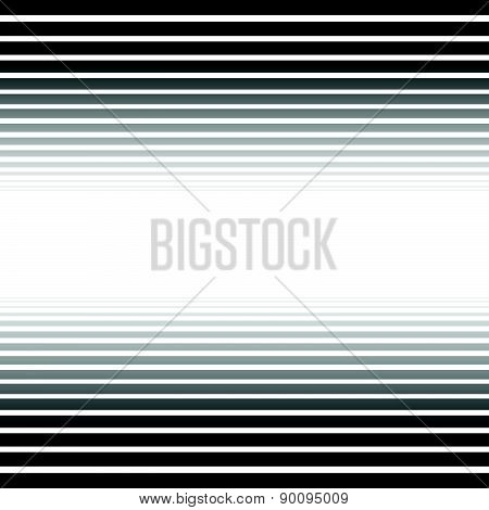 Black And White Converging, Fading Lines Abstract Background. Vector.