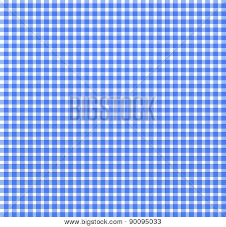 Blue Chequered Tablecloth Texture. Repeatable, Seamless Pattern