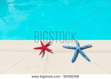 Summer vacation at the swimming pool
