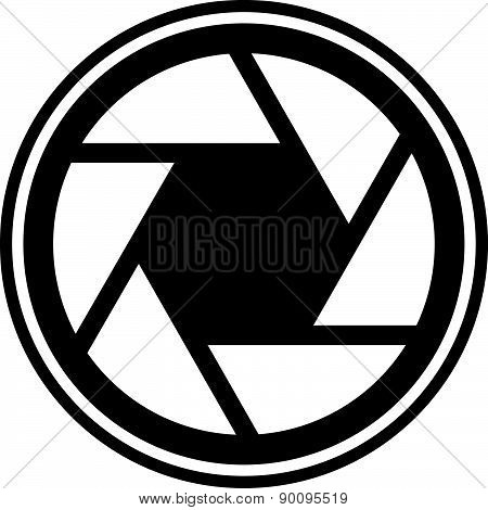 Shutter Icon, Shutter Symbol For Photography Concepts. Vector.