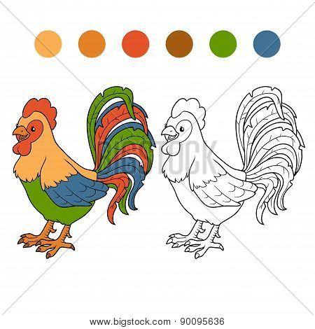 Coloring Book (rooster)