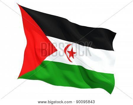 Waving Flag Of Western Sahara