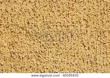 Yellow Decorative Relief Plaster On Wall