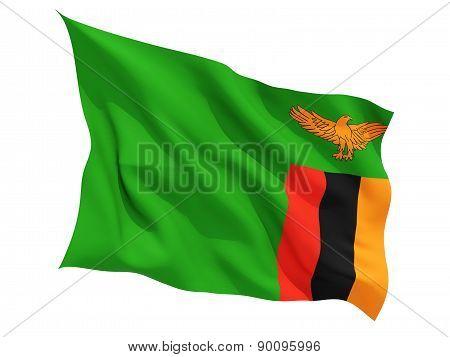 Waving Flag Of Zambia