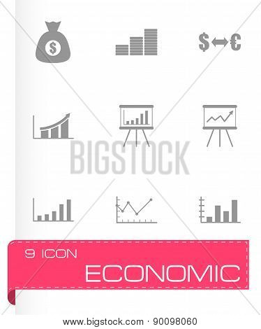 Vector black economic icon set