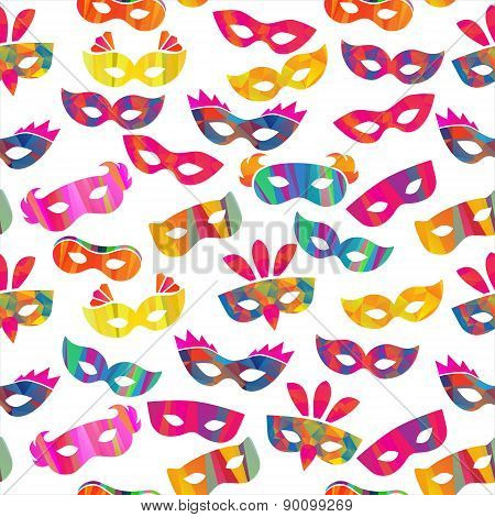 seamless pattern with carnival masks