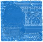 stock photo of sketch book  - Blueprint  - JPG
