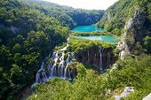 stock photo of breathtaking  - Breathtaking view in the Plitvice Lakes National Park  - JPG