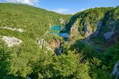foto of breathtaking  - Breathtaking view in the Plitvice Lakes National Park  - JPG