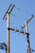 stock photo of transformer  - Old electric power transformer - JPG