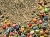 stock photo of beach shell art  - Horizontal background with multi - JPG