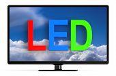 pic of tv sets  - LED TV set isolated on white background - JPG