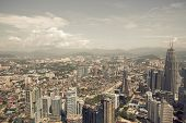 image of klcc  - City skyline panorama in Kuala Lumpur - JPG