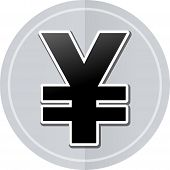 stock photo of yen  - Illustration of yen sticker icon simple design - JPG