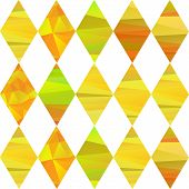 foto of pageant  - seamless pattern with colorfull rhombus  different forms yelow stripes - JPG