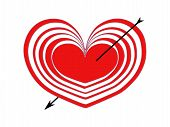 picture of cupid  - red heart  - JPG