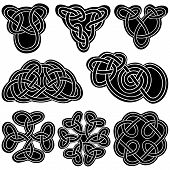stock photo of celtic  - Set celtic knot EPS8  - JPG