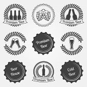 pic of drawing beer  - Beer labels and emblems   - JPG
