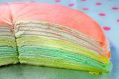 pic of crepes  - Rainbow crepe cake - JPG