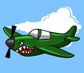 pic of spitfire  - vector illustration of military aircraft especially for attack - JPG