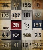 picture of numbers counting  - Collection of different House numbers - JPG
